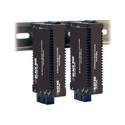 Black Box LIC022A-R2 Industrial MultiPower Media Converter - Fiber media converter - Ethernet Fast Ethernet - 10Base-T 100Base-FX 100Base-TX - RJ-45 / ST mul