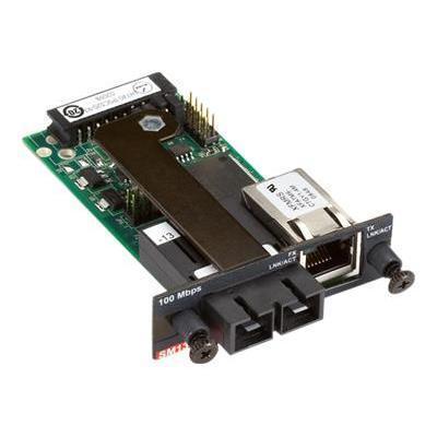 Black Box LH740-TPSCS20-R3 Modular Media Converter - Fiber media converter - 100Mb LAN - 100Base-TX - RJ-45 / SC single-mode - up to 24.9 miles - for P/N: LE740