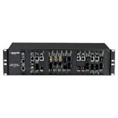 Black Box LMC5028C Media converter - fiber optic - ST multi-mode / ST single-mode - up to 24.9 miles - 1300 nm - for High-Density Media Converter System