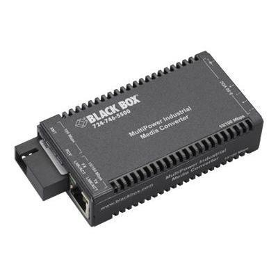 Black Box LIC053A-R2 Industrial MultiPower Media Converter - Fiber media converter - Ethernet Fast Ethernet - 10Base-T 100Base-FX 100Base-TX - RJ-45 / SC sin