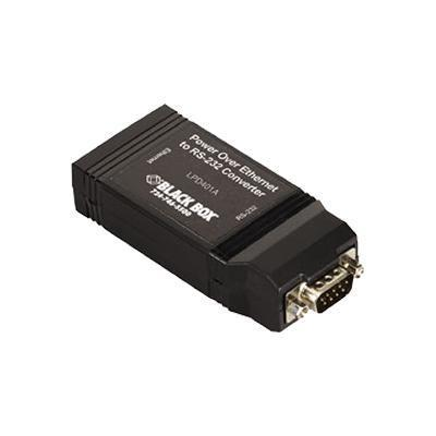 Black Box LPD401A PoE Powered Device Serial Server with RS-232 Standard - Terminal server - 10Mb LAN  100Mb LAN  RS-232