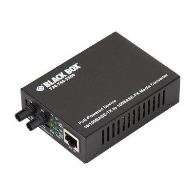 Black Box LPD501A POE PD Media Converter - Fiber media converter - Fast Ethernet - 10Base-T 100Base-FX 100Base-TX - RJ-45 / ST multi-mode