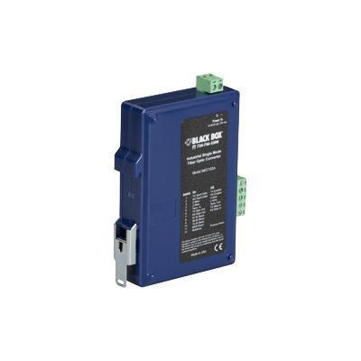Black Box MED102A Industrial DIN Rail RS-232/RS-422/RS-485-Fiber Driver - Short-haul modem - serial RS-232  serial RS-422  serial RS-485 - terminal bl