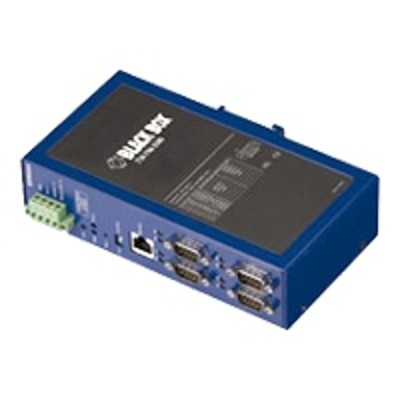 Black Box LES404A Industrial Ethernet Serial Server - Device server - 4 ports - 10Mb LAN  100Mb LAN  RS-232  RS-422  RS-485