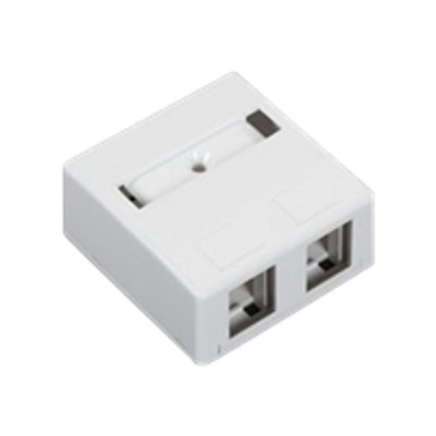Black Box WP283-R4 Surface mount box - wall mountable - white - 2 ports
