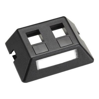 Black Box WP459-MF Modular Furniture Faceplate - Flush mount faceplate - - 2 ports - for P/N: WPRP-BK