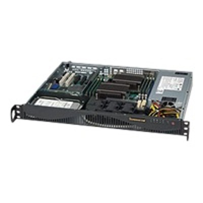Super Micro CSE-512F-600LB Supermicro SC512 F-600LB - Rack-mountable - 1U - ATX 600 Watt - black