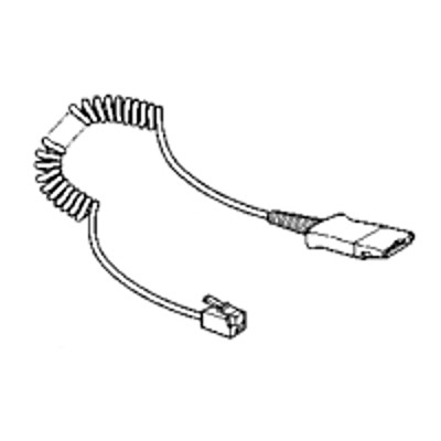 Plantronics 26716-01 Headset amplifier cable - Quick Disconnect to headset amplifier modular plug - 10 ft - for Cisco IP Phone 78XX  88XX  Unified IP Phone 6945