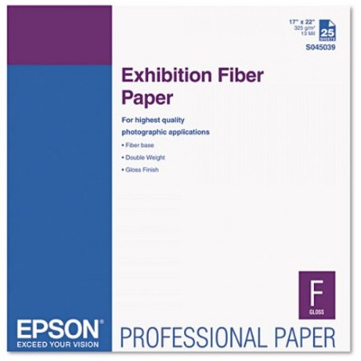 Epson S045039 Exhibition Fiber Paper (17 x 22) - 25 sheet(s)