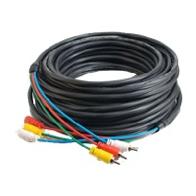 Cables To Go 40527 75ft Composite Video and Stereo Audio Cable with Low Profile Connectors M/M - Plenum CMP-Rated - Video / audio cable - composite video / audi