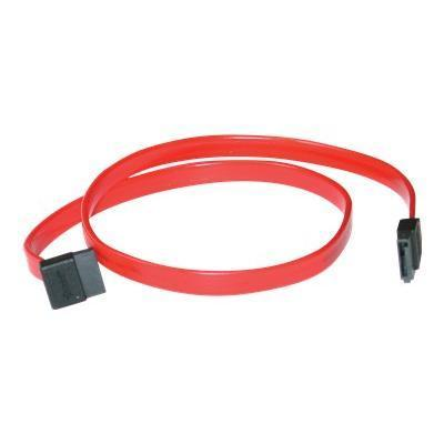 Cables To Go 10190 7-pin 180° to 90° 1-Device Serial ATA Cable - SATA cable - Serial ATA 150/300/600 - SATA (F) to SATA (F) - 1 ft - 90° connector - red