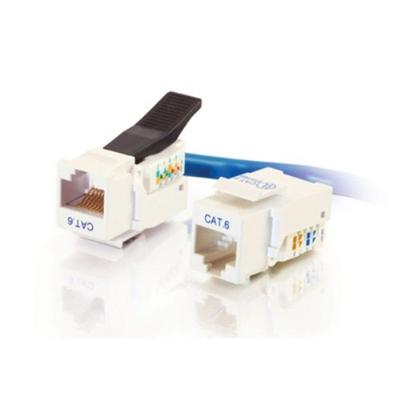Cat6 RJ45 UTP Toolless Keystone Jack - White