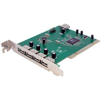 StarTech.com PCIUSB7 7 Port PCI USB Card Adapter - USB adapter - PCI - USB  USB 2.0 - 7 ports