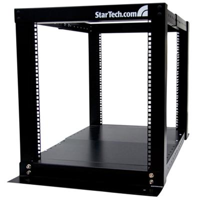 StarTech.com 4POSTRACK12 12U 4 Post Server Equipment Open Frame Rack Cabinet - Rack - black - 12U - for P/N: CABSCREWM6  CABSCREWM62