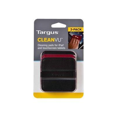 Targus TXA00212US CleanVu Cleaning Pads for iPad - Cleaning pad - black  red ( pack of 3) - for Apple iPad 1  2