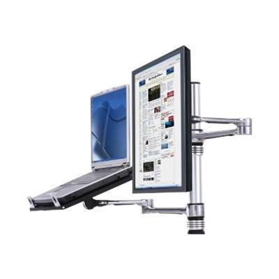 Atdec VF-AT-NBC Visidec focus dual screen notebook and monitor combo - Mounting kit (2 swing arms) for LCD display / notebook - aluminum polymer