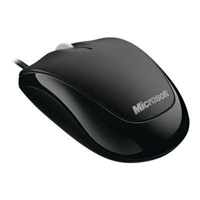 Microsoft 4HH 00001 Compact Optical Mouse for Business Mouse optical 3 buttons wired USB