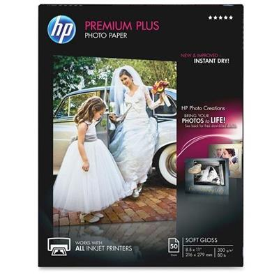 HP Inc. CR667A Premium Plus Soft-gloss Photo Paper 280 gsm - 50 sheet/Letter/8.5 x 11 in