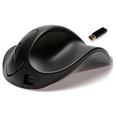 Black Small HandshoeMouse Right Handed Wireless Ergonomic Mouse