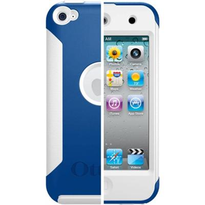 iPod Touch 4th Generation Commuter Series Case - Zircon Blue Plastic / White Silicone