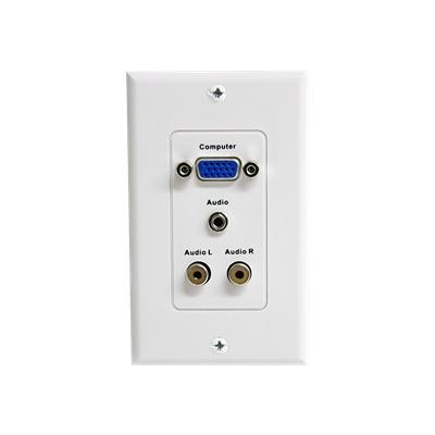 StarTech.com VGAPLATERCA Audio/Video Faceplate - White