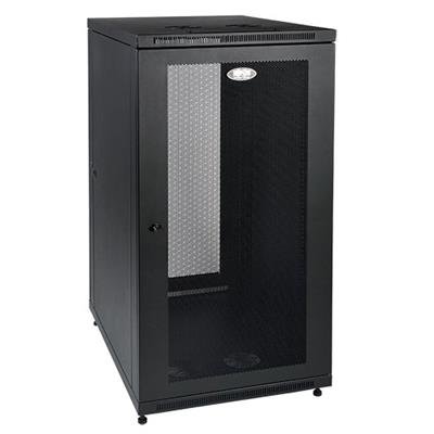 TrippLite SR24UB 24U Rack Enclosure Server Cabinet with Doors & Sides 1000lb Capacity