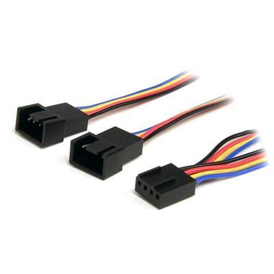 StarTech.com FAN4SPLIT12 12in 4 Pin Fan Power Splitter Cable - F/M