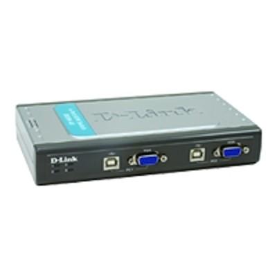 D-Link+KVM-222+KVM+2-Port+USB+Switch+w/Audio+(KVM-222)