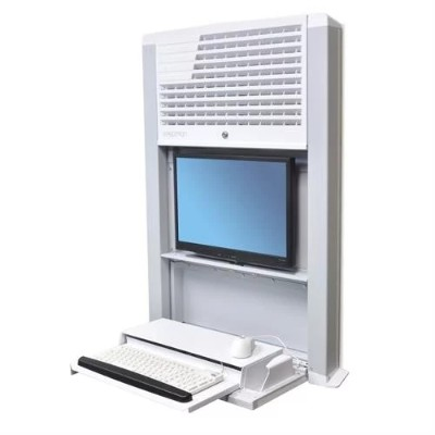 Ergotron 60-610-062 StyleView Sit-Stand Enclosure  Wall-Mount Computer