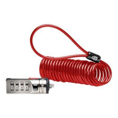 Kensington K64671US Portable Combination Laptop Lock - Security cable lock - red - 6 ft