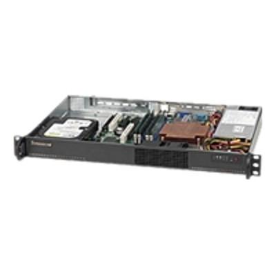 Super Micro CSE-510-203B Supermicro SC510 203B - Rack-mountable - 1U - micro ATX 200 Watt - black