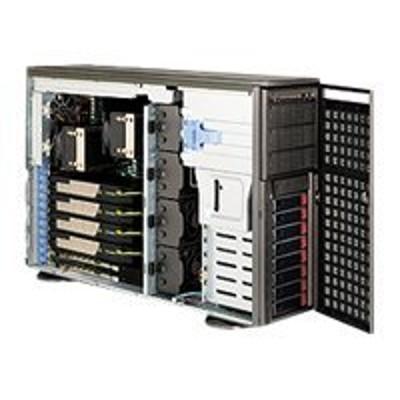 Super Micro CSE-747TQ-R1620B Supermicro SC747 TQ-R1620B - Tower - 4U - extended ATX - SATA/SAS - hot-swap 1620 Watt - dark gray - USB