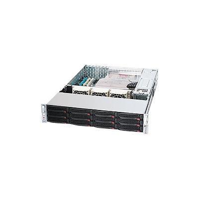 Super Micro CSE-826TQ-R500LPB Supermicro SC826 TQ-R500LPB - Rack-mountable - 2U - extended ATX - SATA/SAS - hot-swap 500 Watt - black