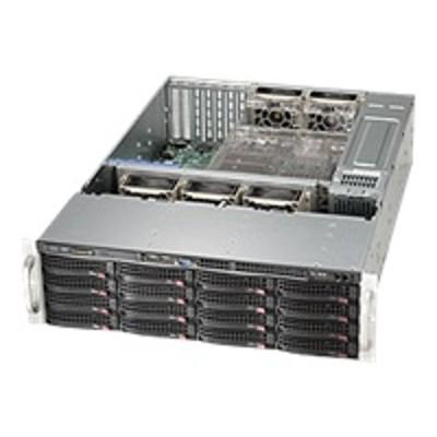 Super Micro CSE-836TQ-R500B Supermicro SC836 TQ-R500B - Rack-mountable - 3U - SATA/SAS - hot-swap 500 Watt - black - USB/serial