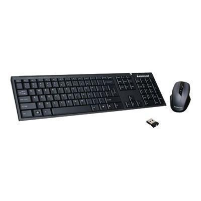 Iogear GKM552R Long Range Wireless Combo GKM552R - Keyboard and mouse set - wireless - 2.4 GHz