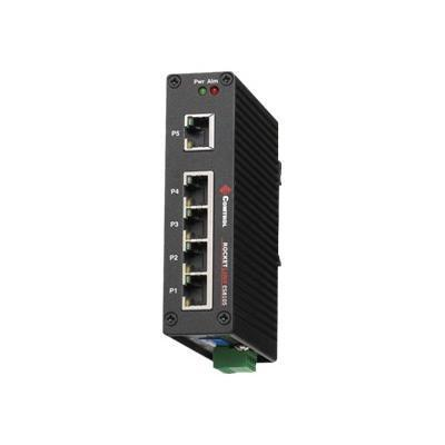 Comtrol 32025-8 RocketLinx ES8105 - Switch - 5 x 10/100 - DIN rail mountable  wall-mountable - AC 18 - 27 V / DC 18 - 32 V