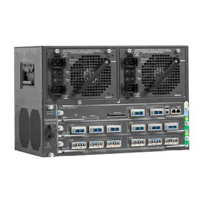 Cisco WS-C4503-E= Catalyst 4503-E Switch Chassis  Rack-mountable  Cat4500 E-Series 3-Slot chassis
