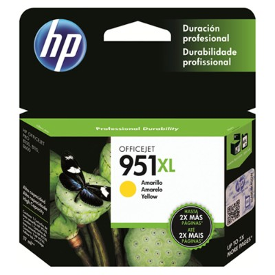 HP Inc. CN048AN#140 951XL - High Yield - yellow - original - ink cartridge - for Officejet Pro 251dw  276dw  8100  8600  8600 N911a  8610  8615  8616  8620  862