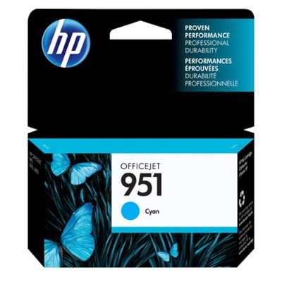951 Cyan Officejet Ink Cartridge - can be used with the HP Officejet Pro 8600 series