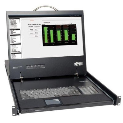TrippLite B021-000-17 1U Rack-Mount Console with 19-in. LCD