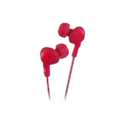 JVC HAFX5R HA-FX5-R Gumy PLUS phones - Earphones - in-ear - 3.5 mm plug - noise isolating - for Apple iPad 1  2  iPhone 3G  3GS  4  iPod  iPod classic  iPod min