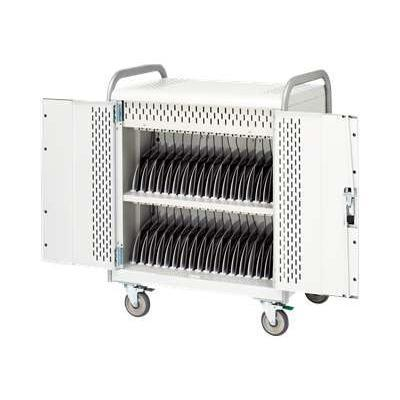 Basics 36 Unit Tablet Cart MDMTAB36BP - cart