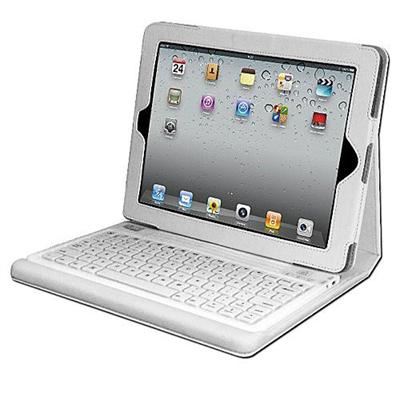 Adesso WKB-2000CW Compagno 2 (White) - Bluetooth 3.0 Keyboard with Carrying Case for new iPad and iPad 2