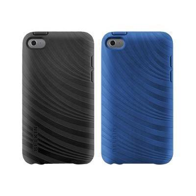 Belkin F8w012ebc00-2 Essential 023 - Case For Player - Silicone  Thermoplastic Polyurethane - Blacktop  Civic Blue ( Pack Of 2 ) - For Apple Ipod Touch (4g)