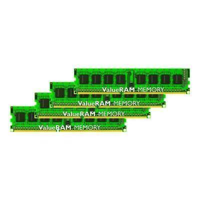 Kingston KVR1333D3N9HK4/32G ValueRAM - DDR3 - 32 GB: 4 x 8 GB - DIMM 240-pin - 1333 MHz / PC3-10600 - CL9 - 1.5 V - unbuffered - non-ECC