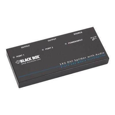Black Box AVSP-DVI1X2 1 X 2 Dvi-D Splitter Withaudio and Hdcp