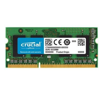 Crucial CT51264BF160B 4GB PC3-12800 1600MHz DDR3 SDRAM SODIMM 204-pin Unbuffered NON-ECC