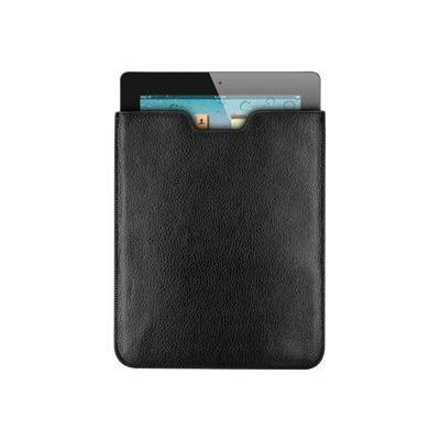 Hornet Tek LC-IPAD2-BK Leather Sleeve Pouch Case - Pouch for tablet - leather - for Apple iPad 2