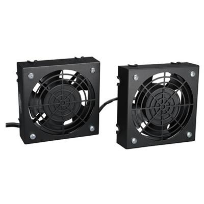 TrippLite SRFANWM Rack Enclosure Cabinet Wall Mount Roof Fan Kit 210 CFM   2 pieces