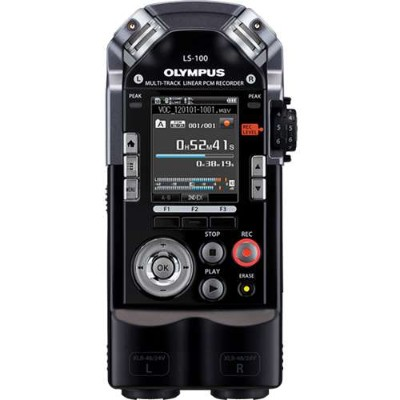 Olympus V409121BU000 LS-100 - Voice recorder - 4 GB - display: 2 in - black